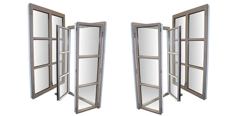 Double-leaf Window (DW) with Eropean C-Groove and False Mullion