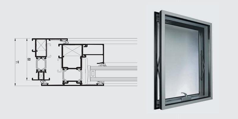 Outswinging Casement Window (OCW) Series Curtain wall Parallel Opening Window (OCWP)